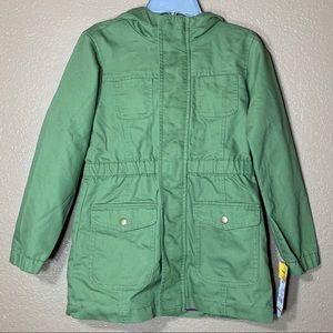 Cat & Jack girls green jacket